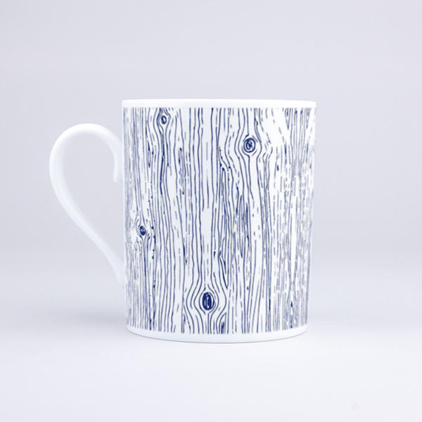 Vue du mug Blue Wood