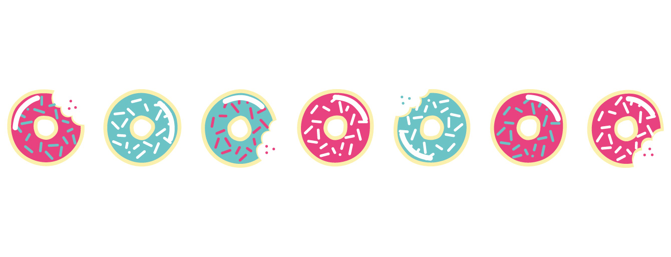 Motif complet du mug Donuts à croquer