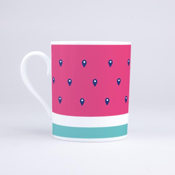 Vue du mug Maxi Pasteque