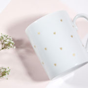mug petits coeurs printanier