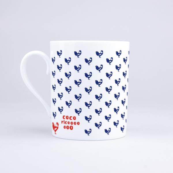 Vue du mug Cocorico