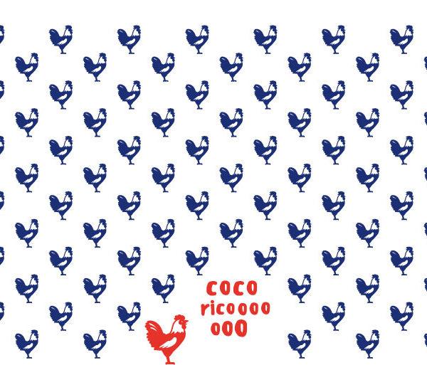 Motif complet du mug Cocorico