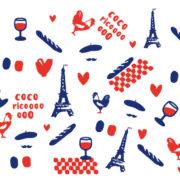 Motif complet du mug Les Frenchies