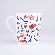 Vue du mug Les Frenchies
