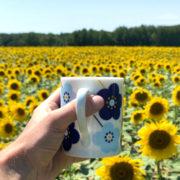Le mug Fleurs Bleues