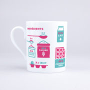 Vue du mug Mug Cake